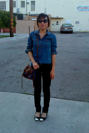black Forever 21 shoes - black Cest Toi jeans - brown Rebecca Minkoff bag