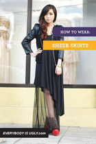 How to Wear: Sheer Skirts