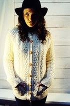 vintage IRISH Knit Jumper Cardigan Sweater