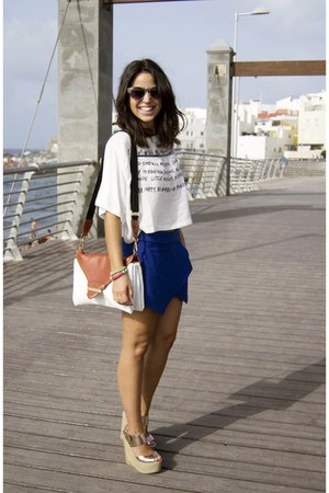 shirt - bag - sunglasses - skirt - sandals