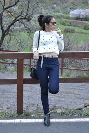 Zara jeans - Salt & Peepers boots - Zara sweater
