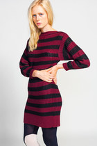 Lucca Couture Wine Knit Dress