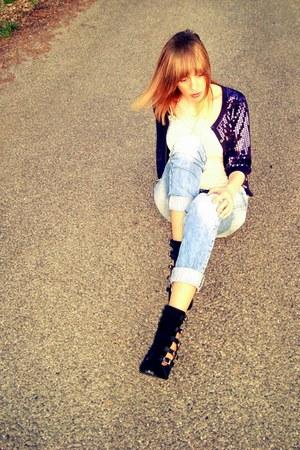LipsyLondon jacket - Zara jeans - Zara shirt - Inga heels