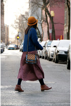 crimson dotted Lollipops bag - tawny Urban Outfitters shoes - orange H&M hat