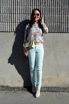 light blue Forever 21 pants