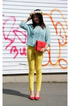 yellow Forever 21 pants