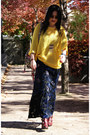 Crimson-topshop-boots-yellow-cheap-monday-sweater-black-forever-21-skirt