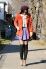 Deep-purple-h-m-hat-carrot-orange-h-m-blazer