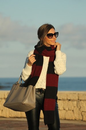 Zara scarf - Zara sweater - Prada bag