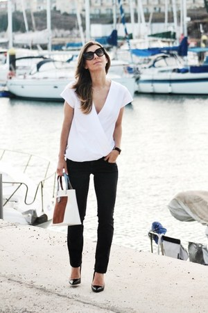 lamarthe bag - Zara top