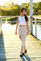 twist skirt Tobi skirt - crop top Boohoo top