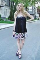 purple catherine malandrino dress - deep purple Christian Louboutin heels