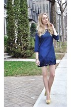 navy asos dress