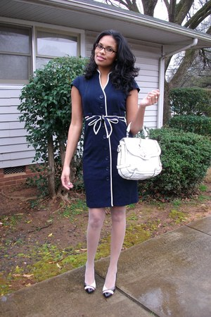 Sandra Darren dress - Fioni shoes - XOXO purse