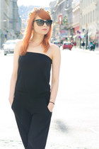 Black jumpsuit.