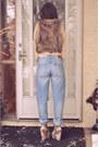 Light-blue-h-m-jeans-light-brown-fur-vest-fur-blue-notes-vest