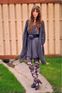 Charcoal-gray-boutique-dress-gray-sweater-winners-sweater-light-purple-ozone