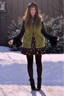 Chartreuse-forever-21-vest-bubble-gum-winners-skirt-black-vintage-booties-vi