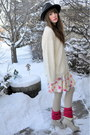 Ivory-value-village-thrifted-sweater-salmon-legwarmers-h-m-accessories-off-w