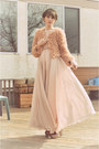 Light-pink-gown-wwwsheinsidecom-dress-pink-faux-fur-forever-21-jacket