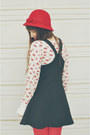 Black-lace-up-boots-forever-21-boots-red-hat-walmart-hat