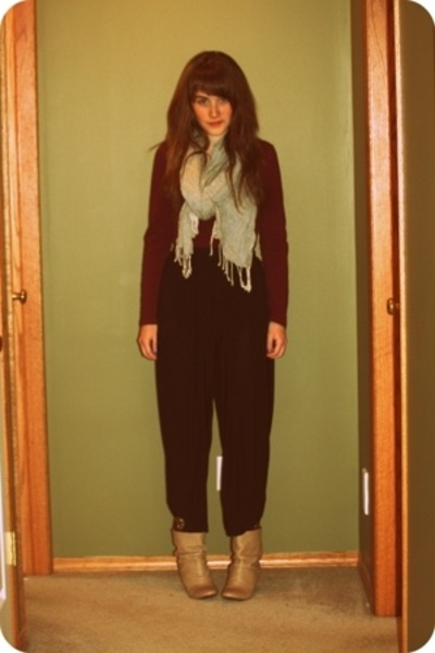 joe fresh style shirt - H&amp;M scarf - vintage pants - Zara shoes