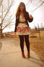 Beige-forever-21-dress-brown-value-village-boots-black-dkny-goodwill-blazer-