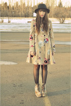 coat made of petals,