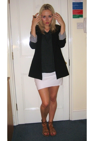 Zara blazer - American Apparel skirt - sam edelman shoes