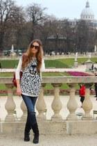 Zara sweater - balenciaga bag - Celine glasses