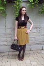 Brown-thrifted-skirt