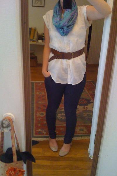 scarf - Uniqlo shirt - Topshop pants - Steve Madden shoes - belt