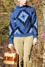 Blue-vintage-sweater-olive-green-vintage-pants-brown-vintage-shoes-brown-v