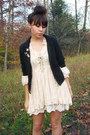 Boots-lace-dress-knit-cardigan