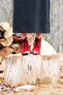 Black-zara-jacket-black-zara-dress-red-vintage-shoes-blue-vintage-scarf