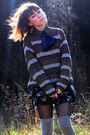 Brown-vintage-sweater-black-target-skirt-ivory-vintage-shoes-navy-vintage-
