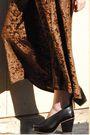 Beige-vintage-sweater-brown-vintage-dress-white-vintage-scarf-brown-vintag
