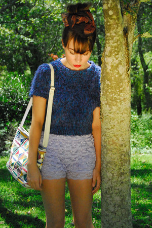 periwinkle tiered lace romwe shorts - vintage boots