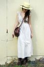 Beige-vintage-dress-brown-vintage-bag-beige-vintage-hat-purple-chinese-lau