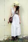 Beige-vintage-dress-brown-vintage-bag-beige-vintage-hat-purple-chinese-lau