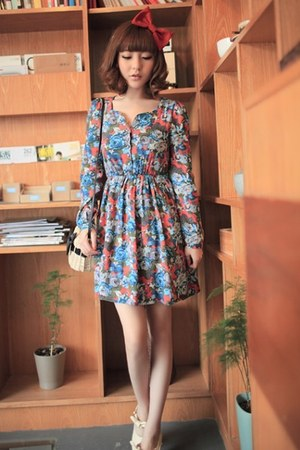 cotton fashion floral cute vintage style dress