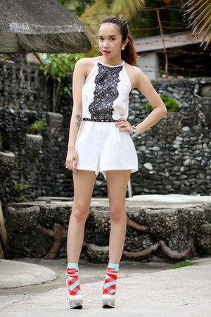 lace inlovewithfashion romper