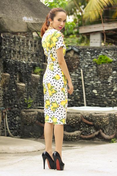 light yellow lemon print Mootta dress