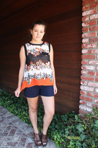 carrot orange PERSUNMALL blouse