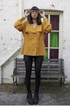 mustard wild hearts vintage blouse - leather tony bianco boots