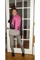 Wet Seal jacket - Urban Outfitters shirt - Target pants - Bday Gift scarf - Tell
