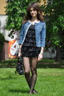 Blue-denim-liu-jo-blazer-black-bale-bag