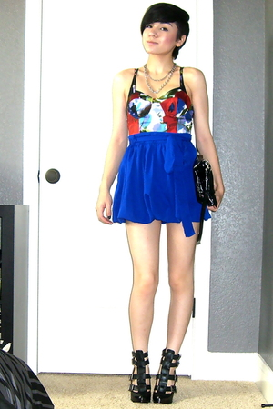 Forever 21 top - Forever 21 skirt - Dolce Vita shoes - Juicy Couture necklace -