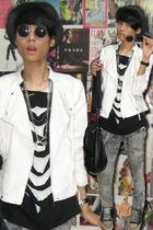 Zara jacket - t-shirt - Mango jeans - Zara hat - Converse shoes - vintagedad clo