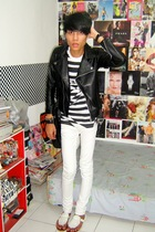 jacket - Topman t-shirt - Zara pants - Topman accessories - custome made shoes